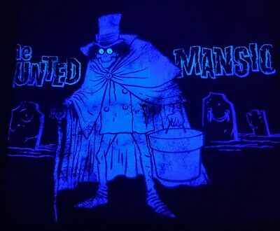 NWT LE Disney Haunted Mansion Hatbox Ghost Tee Shirt Glow in the Dark T-Shirt