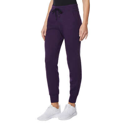 32 Degrees Heat Womens 3205 Tech Fleece Jogger Sweat Pants Purple Size M NWT