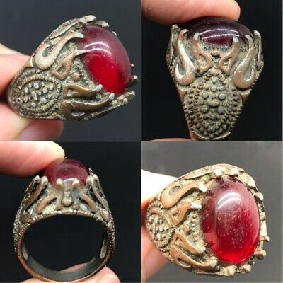 stunning old unique Roman ring with old antique stone