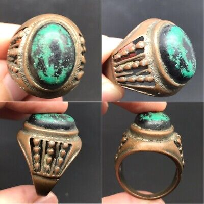 Ancient old Roman metal ring authentic rare type