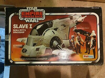 Vintage Star Wars Slave 1 ROTJ Boxed/Complete With Ramp, Carbonite, Door, Etc
