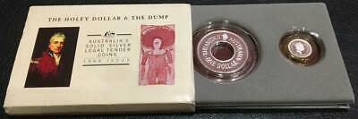 1989 Australian Holey Dollar And The Dump Set..1.25 Oz Silver..scarce.