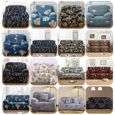 1 2 3 Seater Stretch Sofa Cover Couch Cover Elastic Ultra-Thin Wrap Christmas