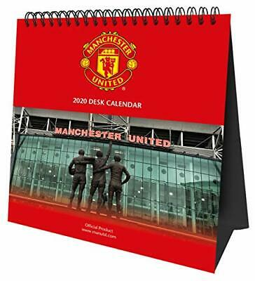 Manchester United FC Desk Easel Official 2020 Calendar  Month to View Desk  NEW
