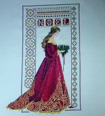 Lavendar & Lace - Celtic Christmas - completed cross stitch