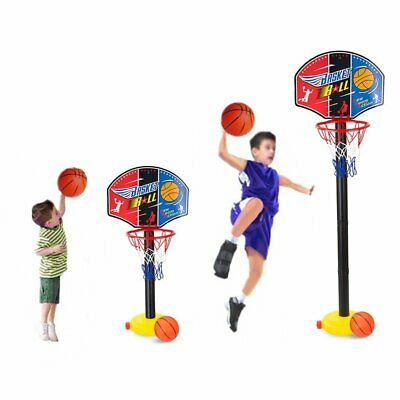 Children Kids Mini Adjustable Basketball Indoor Outdoor Play Net Hoop Set Sport