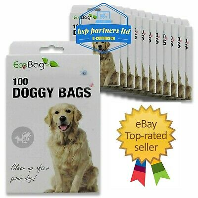 Dog Poo Bags Extra Large Double Thick Dog , Cat Poop Tie Handles Fragranced