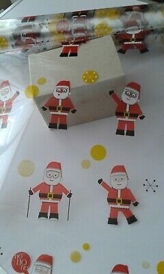 Christmas Cellophane Dancing Santa Wrap 20Mtr Roll Bargain Price!!