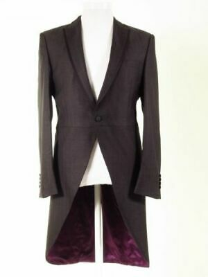 """Wilvorst"" Wool & Silk Morning Tailcoat. 38 Inch Chest Charcoal"