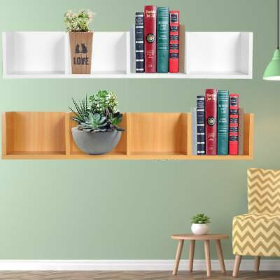 UK Space Saving Floating Wall Shelves Display Shelf Bookshelf Storage Unit 95cm