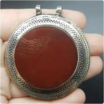 Old stunning rare agate silver beautiful pendant