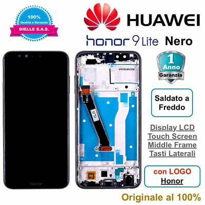 Display Originale LCD Touch Screen Middle Frame HUAWEI Honor 9 Lite LLD-L31 Nero