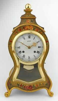 LE CASTEL MARIE-ANTOINETTE PENDULUM CLOCK - Hand Made/Painted & Gold Leaf 12.5in