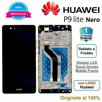 Display Originale LCD Touch Screen Middle Frame HUAWEI P9 Lite VNS-L31 L23 Nero
