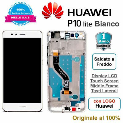 Display Originale LCD con Touch Screen e Frame HUAWEI P10 Lite WAS-LX1A Bianco