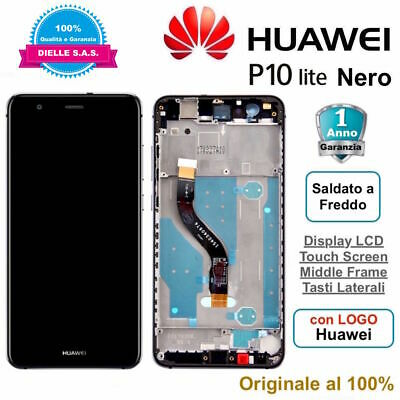 Display Originale LCD e Touch Screen Middle Frame HUAWEI P10 Lite WAS-LX1A Nero
