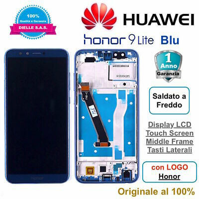 Display Originale  LCD Touch Screen Middle Frame HUAWEI Honor 9 Lite LLD-L31 Blu