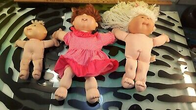 Cabbage Patch Kids Dolls Lot of 3 - 1994 1995 2007 Decent Condition