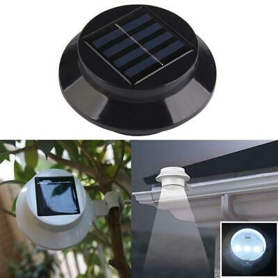 Solarize Set of 4 Solar Gutter Fence Lights