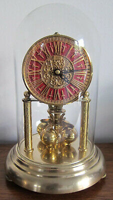 KERN 400 DAY ANNIVERSARY CLOCK WITH GLASS DOME - Good Working Order