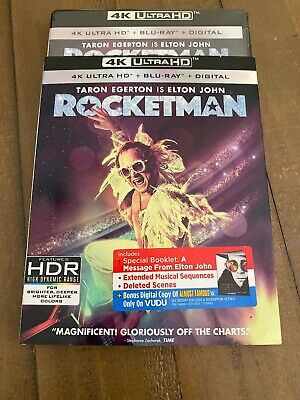 Rocketman (4K Ultra HD, Blu-ray, Digital, 2019) with Slipcover BRAND NEW