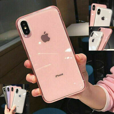 Clear Shockproof Soft Bumper Silicone Case Cover For iPhone XS Max X 6 7 8 Plus