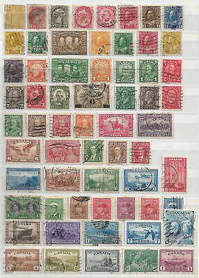 Canada selection of stamps x 148 varying grades from early to modern