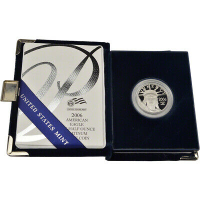2006 W American Platinum Eagle Proof 1/2 oz $50 in OGP