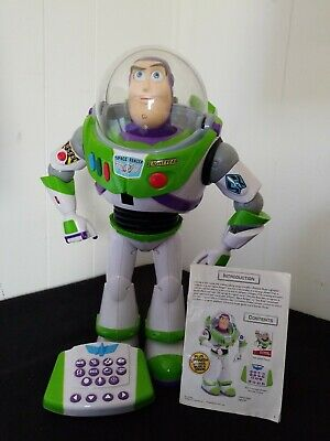 Disney Toy Story 3 Ultimate Buzz Lightyear Progammable Robot Interactive 16""