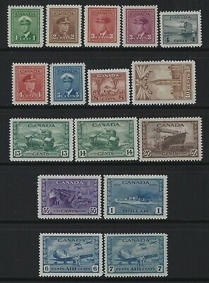 Canada - #249-#262, #C7-#C8 - King George Vi War Issue Complete Set + Airmail