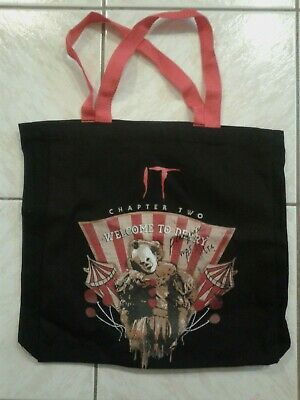 IT: CHAPTER TWO movie - Black TOTE BAG! Official WBEI 2019 PROMO! NEW! 2