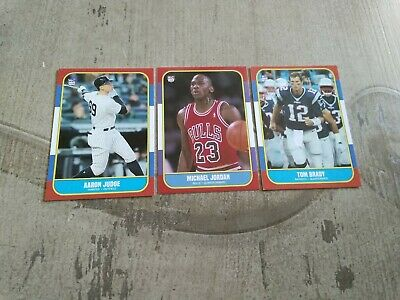 Rare Michael Jordan, Aaron Judge, Tom Brady 1986 / 1987 Fleer Style Custom Cards