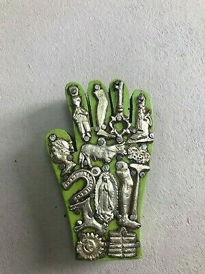 "Mini Milagros Wood Hand,Virgen De Guadalupe , Hand Painted , Gifts , 4"" X 2.5"""