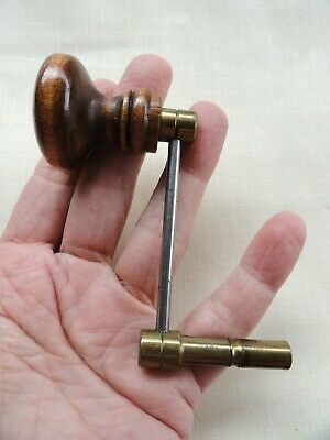 Antique SIZE 11 GRANDFATHER CLOCK Winding Key Brass, Steel, and WOOD