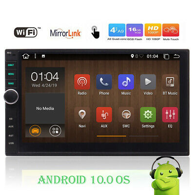 "Double 2 Din Android Car Stereo 6.2"" Bluetooth Wifi Radio CD DVD Player GPS Navi"