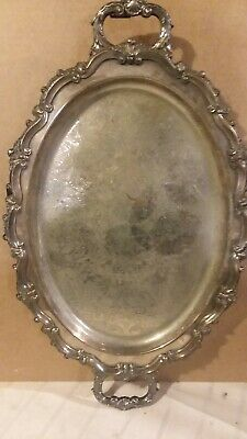 Epca Bristol Silverplate By Poole Large Footed Platter #139