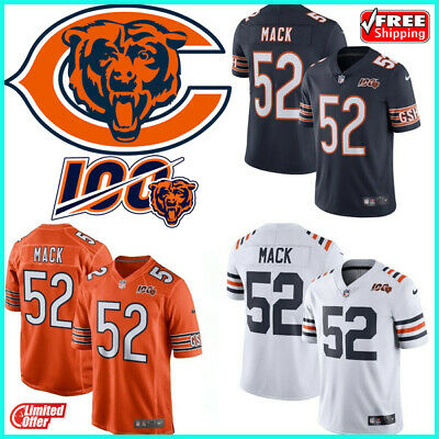 52 Khalil Mack Jersey Chicago Bears Football 100th Season Limited Edition