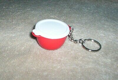 TUPPERWARE Rare Mini Mega Thatsa Bowl Key Chain Gadget Red Cute Replica NEW