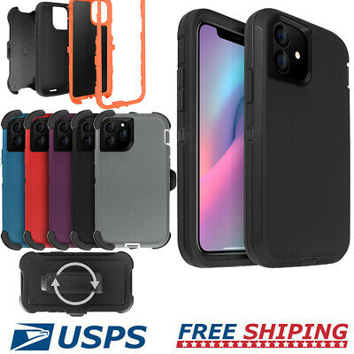 Shockproof Hybrid Heavy Duty Case Cover W/ Belt Clip Stand For iPhone 11 Pro Max