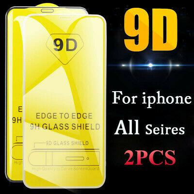 For iPhone 11 Pro XS Max X 8 7 6S Plus Tempered Glass Full Screen Protector Film