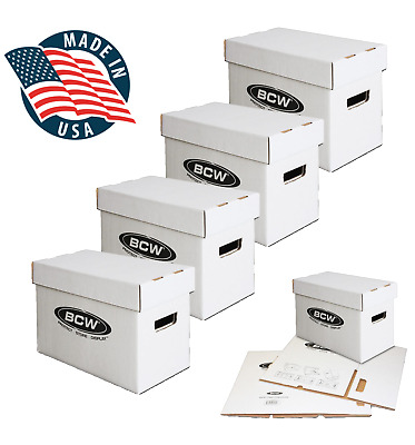 LOT OF 4 - BCW Short Comic Book Storage Box - Each Holds Up To 175 Comics