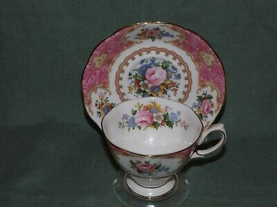 Vintage Royal Albert Lady Carlyle Cup & Saucer Set*Floral Design*Footed