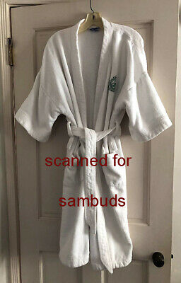 The Beverly Hills Hotel - Terry Cloth Bathrobe - White - Cotton - 1970S