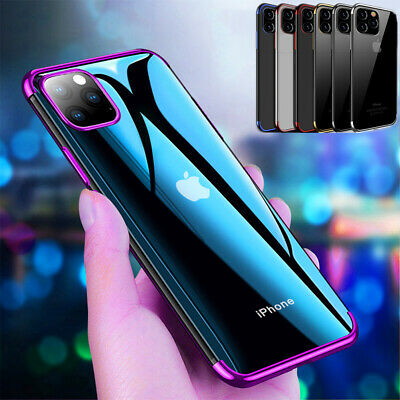 Hybrid Shockproof Soft Cover For iPhone 11 Pro MAX Clear Case +Screen Protector