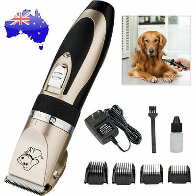 Electric Pet Clipper Dog Cat Hair Trimmer Comb Grooming Clippers Rechargeable AU