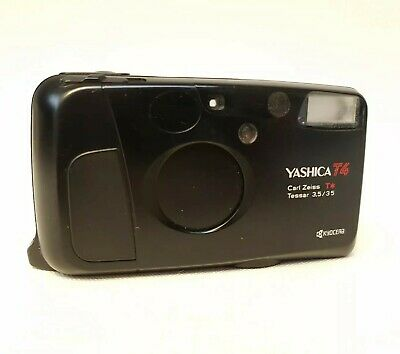 Yashica T4 35mm Compact Film Camera with Carl Zeiss Lens