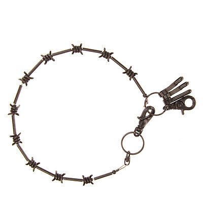 DSQUARED2 Key Chain Black Barbed Wire Carabiner Deatails & Clasp