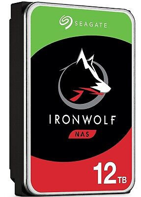 "Seagate Internal NAS Hard Disk Drive 12TB SATA 3.5"" HDD IronWolf 7200RPM 256MB"