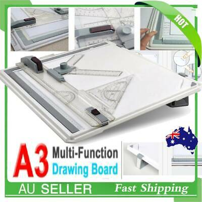 Portable Drafting A3 Drawing Board & Kit Drawing Head Tilters & Set Square
