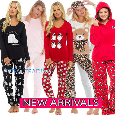 Ladies Womens Pyjamas pj Set Long Sleeve Top Nightwear LoungeWear pajamas new cl